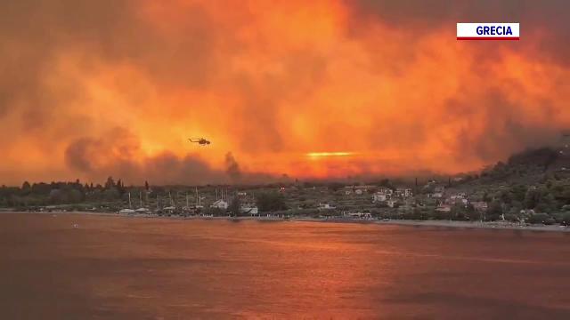 """Dezastrul provocat de incendiile din Grecia, prin ochii românilor: """"Am fost nevoită să plec de acasă, mi-a fost teamă"""""""