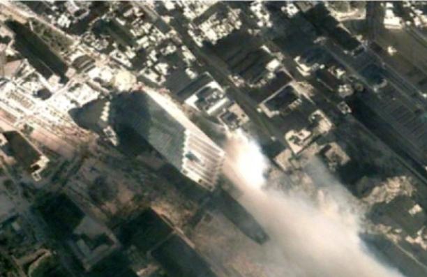 Au fost făcute publice imagini surprinse de Google Earth din timpul atentatelor din 11 septembrie 2001. FOTO