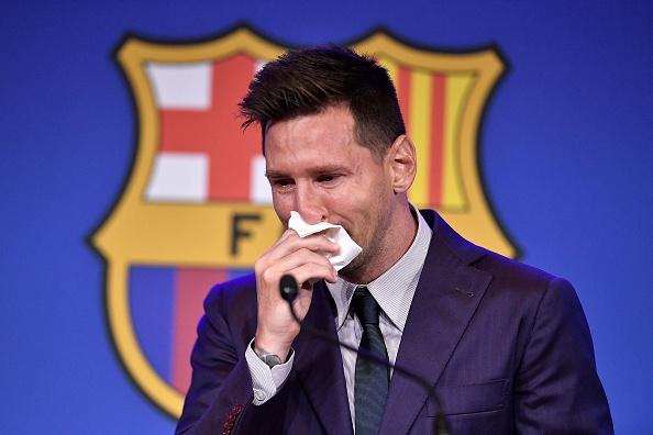 Messi, în lacrimi la conferinţa de presă de despărţire de FC Barcelona: Toată viaţa mea a fost aici