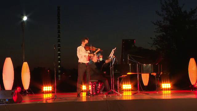 Alexandru Tomescu și vioara Stradivarius, spectacol impresionant în fața a 1.000 de persoane