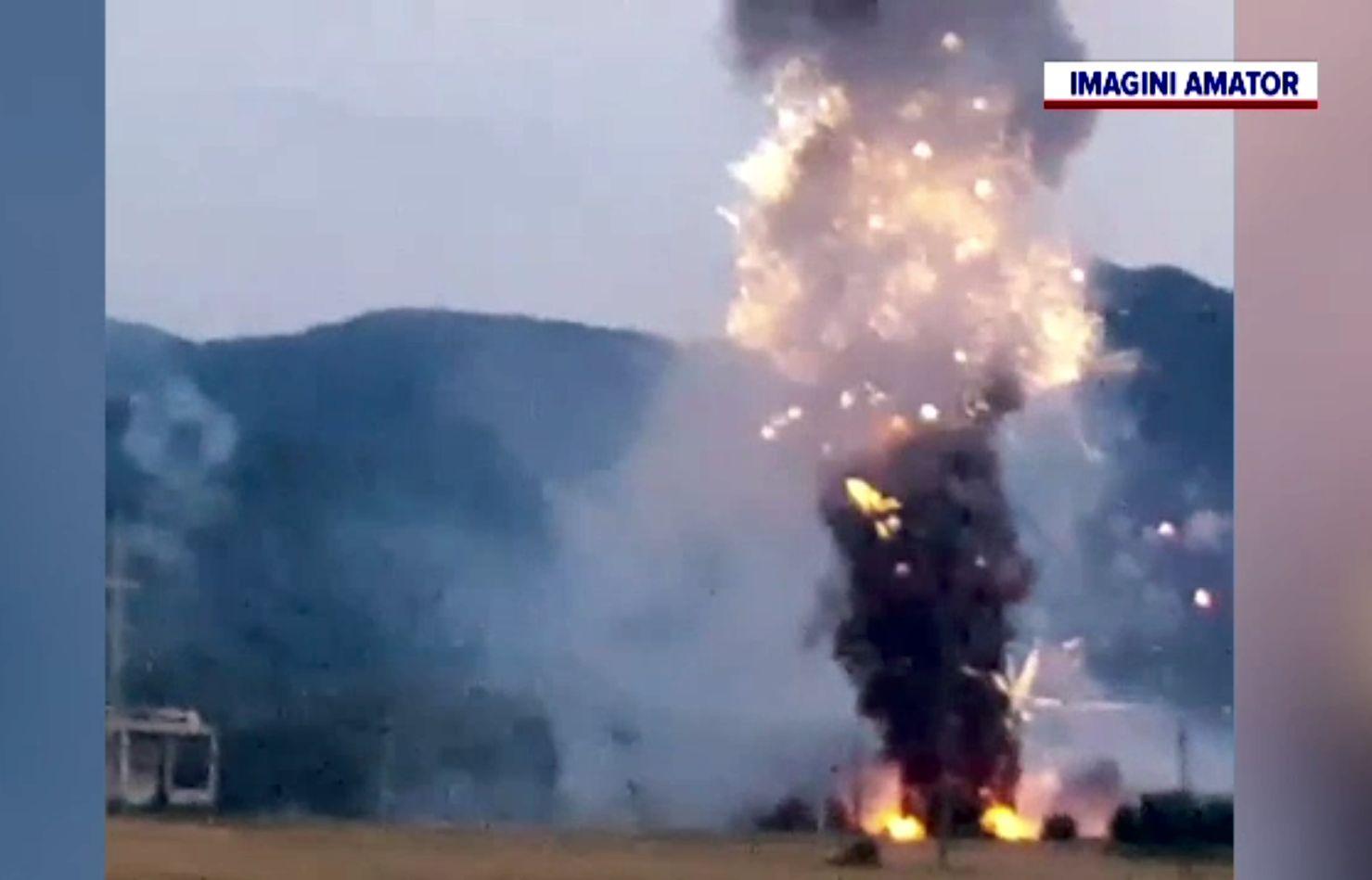 Anchetă la explozia de la depozitul de artificii din Zărnești. Procurorii au descoperit fapte penale