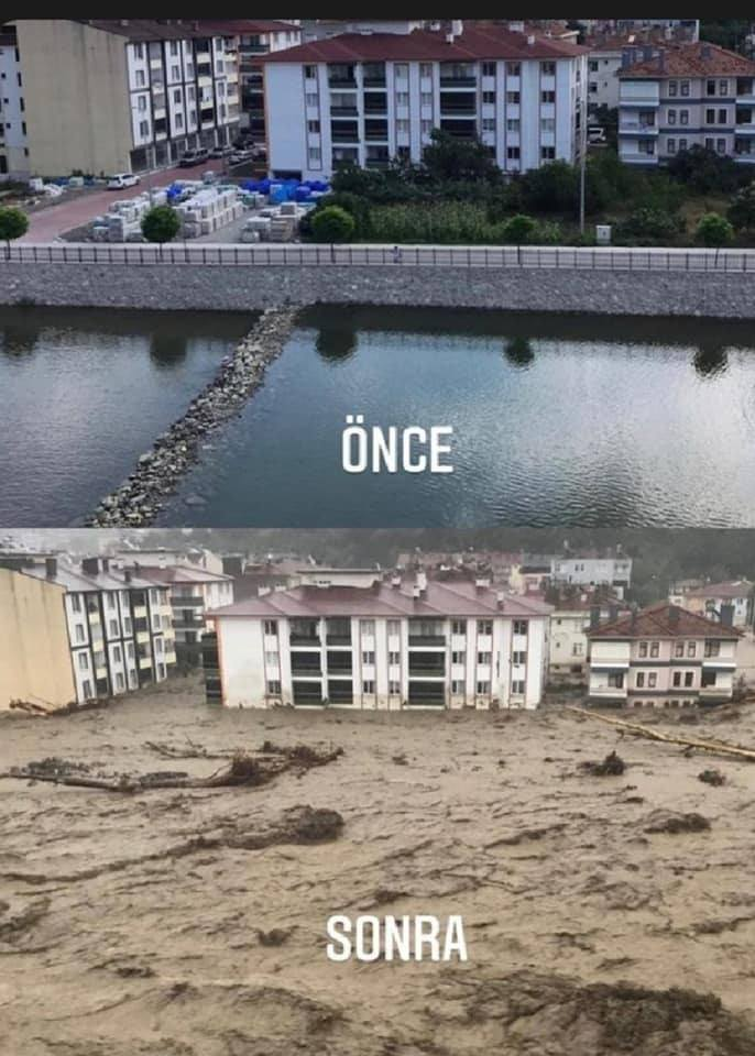 O imagine care vorbește de la sine. O zonă din Turcia, de nerecunoscut după inundații