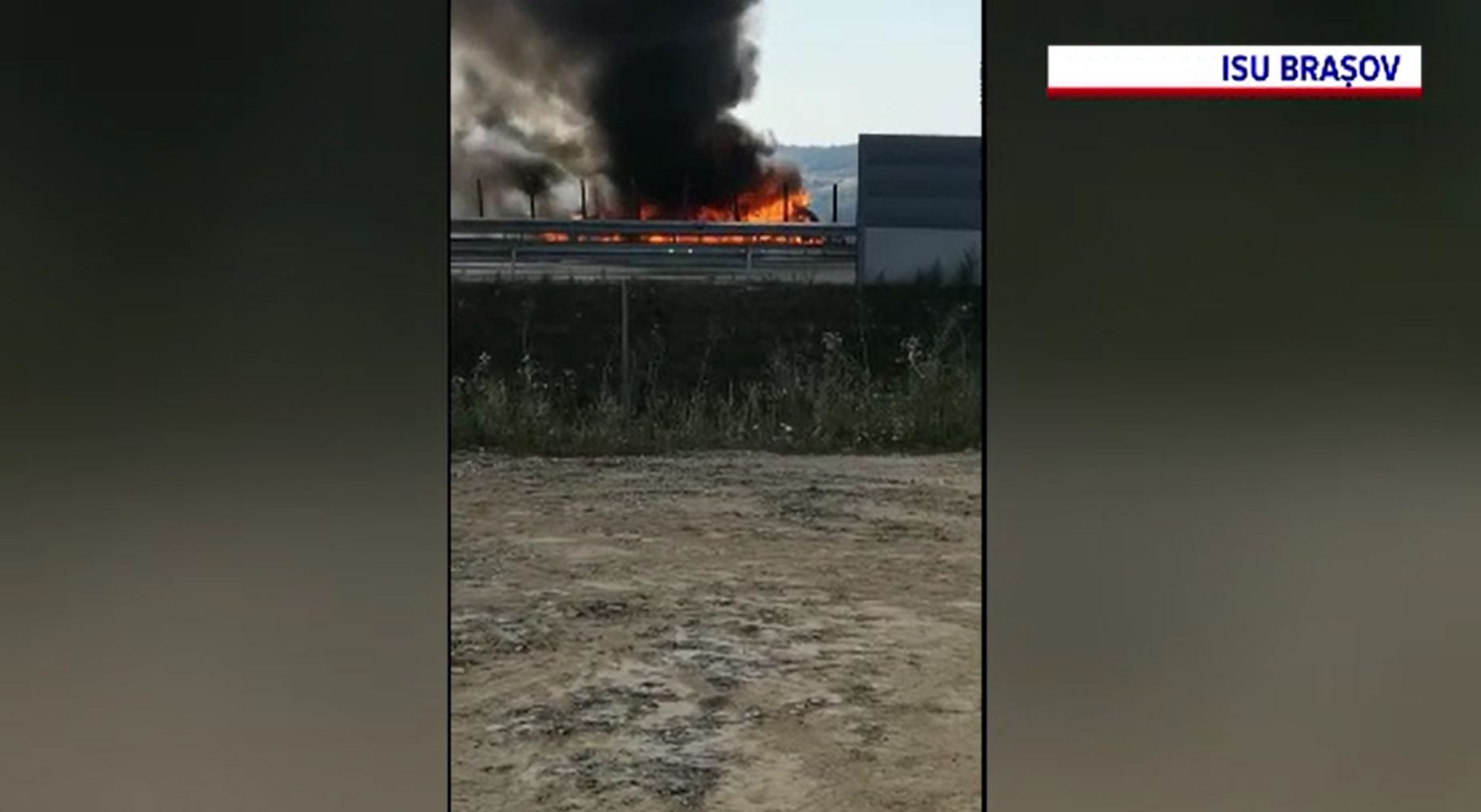Circulație îngreunată pe A3, după ce un camion a luat foc în timpul mersului