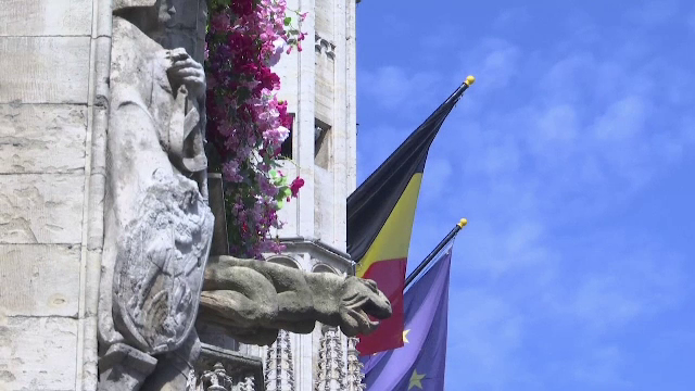 Imagini superbe surprinse în Belgia. Monumentele și clădirile istorice din Bruxelles au fost decorate cu flori