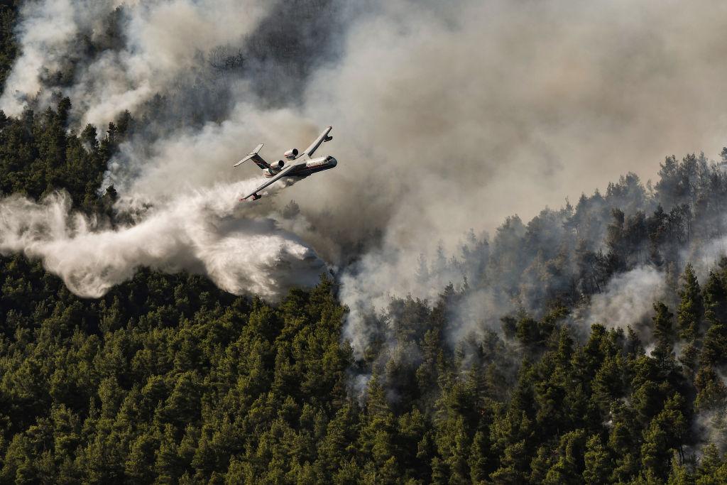 Mai multe incendii de vegetaţie au izbucnit în apropiere de Atena