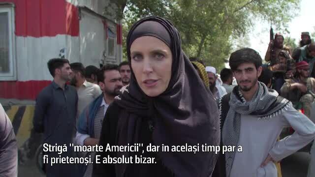 O jurnalistă CNN s-a aventurat pe străzile din Kabul, printre talibani. Ce i-au spus soldații