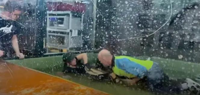 Momentul în care un aligator a atacat o angajată de la ZOO. Un vizitator a sărit în cușcă pentru a o ajuta