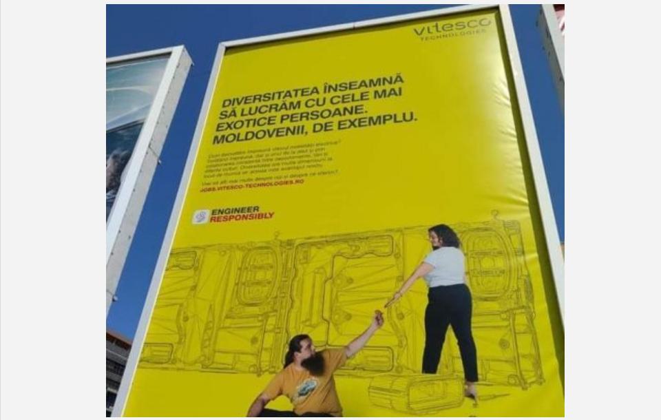 """O reclamă din Timișoara despre moldoveni agită spiritele. De la """"o mitocănie"""", la """"de când suntem noi așa panseluțe?"""""""