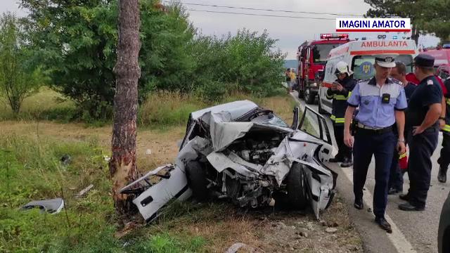Accident grav de circulație pe un drum național din Gorj. O femeie a decedat pe loc