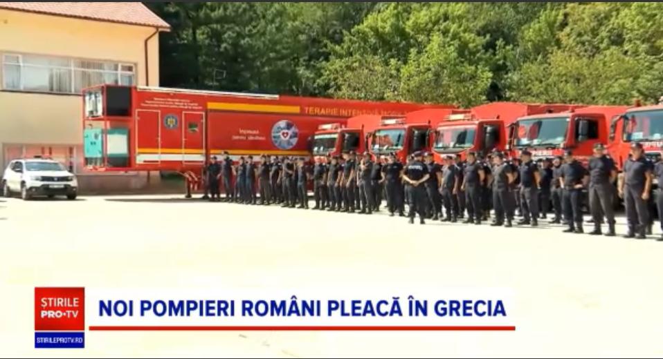 Pompierii români se întorc în Grecia. Peste 140 de salvatori au plecat, pregătiți pentru ce e mai rău