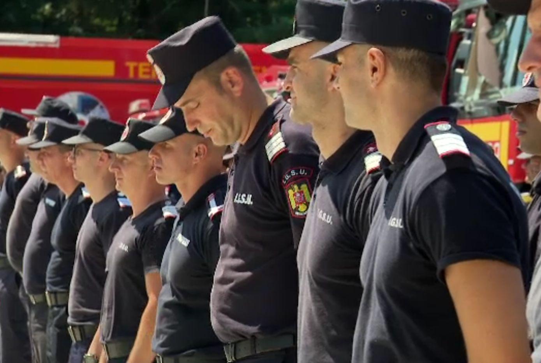 Pompierii români au plecat din nou în Grecia, să-i ajute pe colegii eleni. 142 de români intervin în Attica