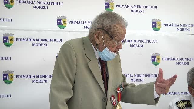 Aniversare specială în Dâmbovița. Un veteran de război împlinește 100 de ani