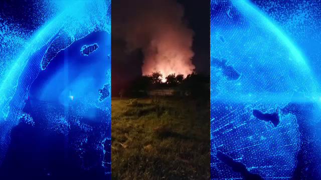 Incendiu de proporții în Baia Mare. Au ars peste 30 de tone de deșeuri