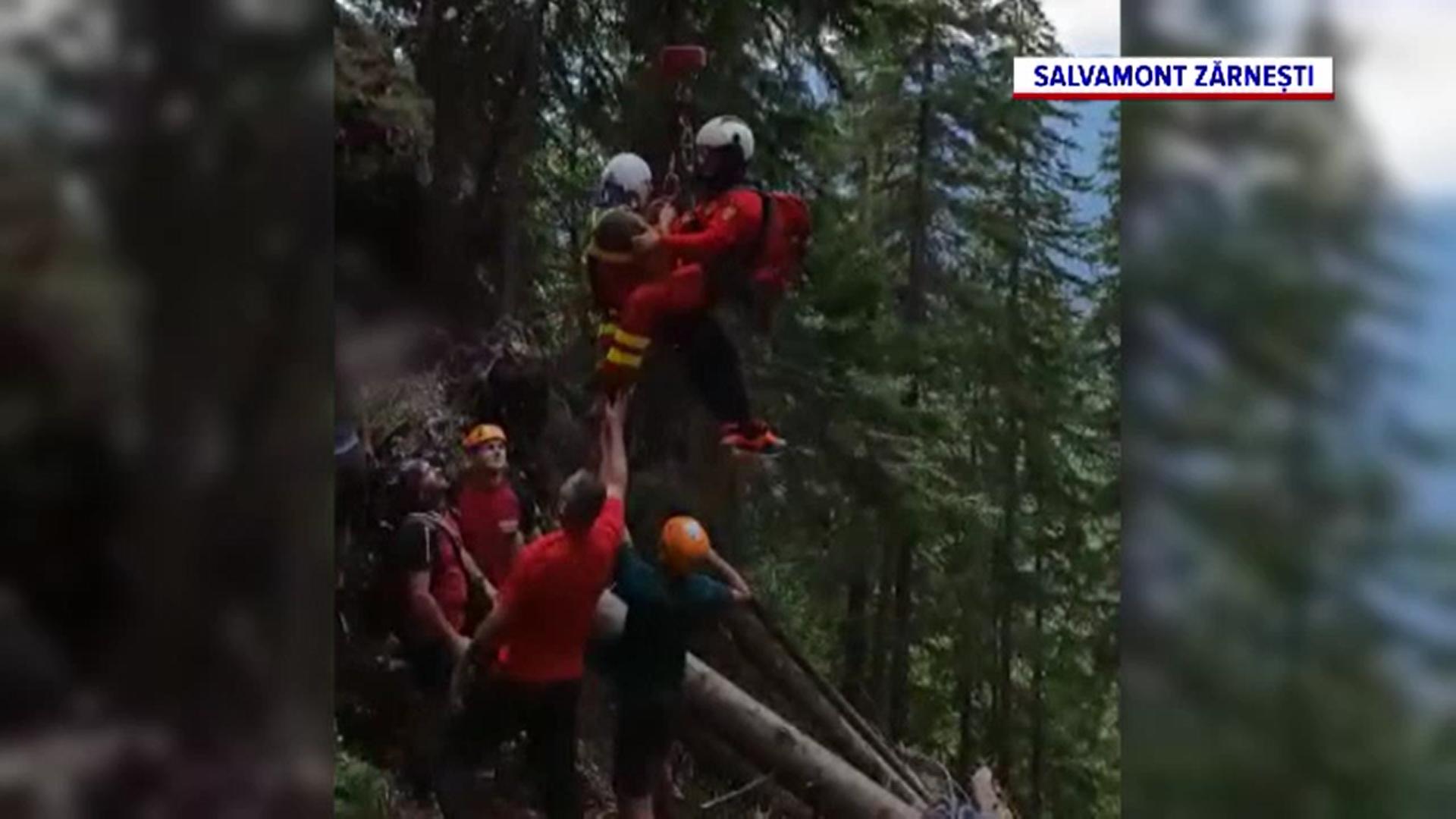 Un turist a fost salvat de salvamontiști după ce a căzut în gol mai bine de 30 de metri, în masivul Piatra Craiului
