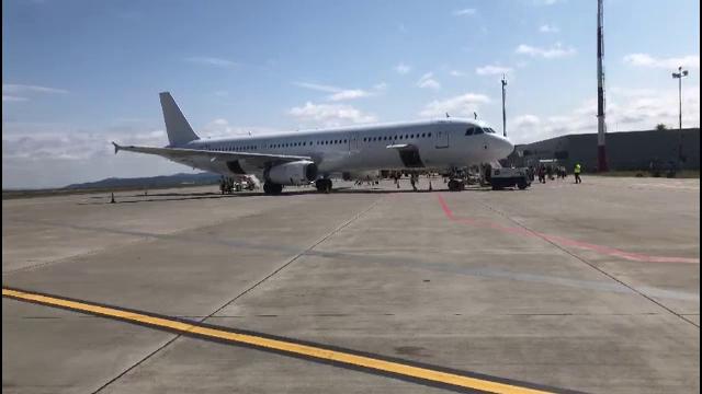 Filmul incidentului în care a fost implicat un avion WizzAir. Aeronava ar fi fost închiriată de la o altă companie