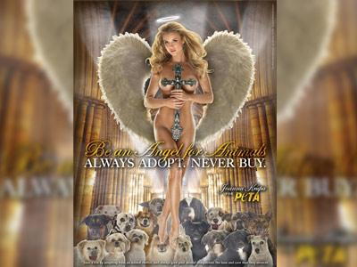 Goala, acoperita cu o cruce! O reclama PETA pune pe jar Biserica Catolica