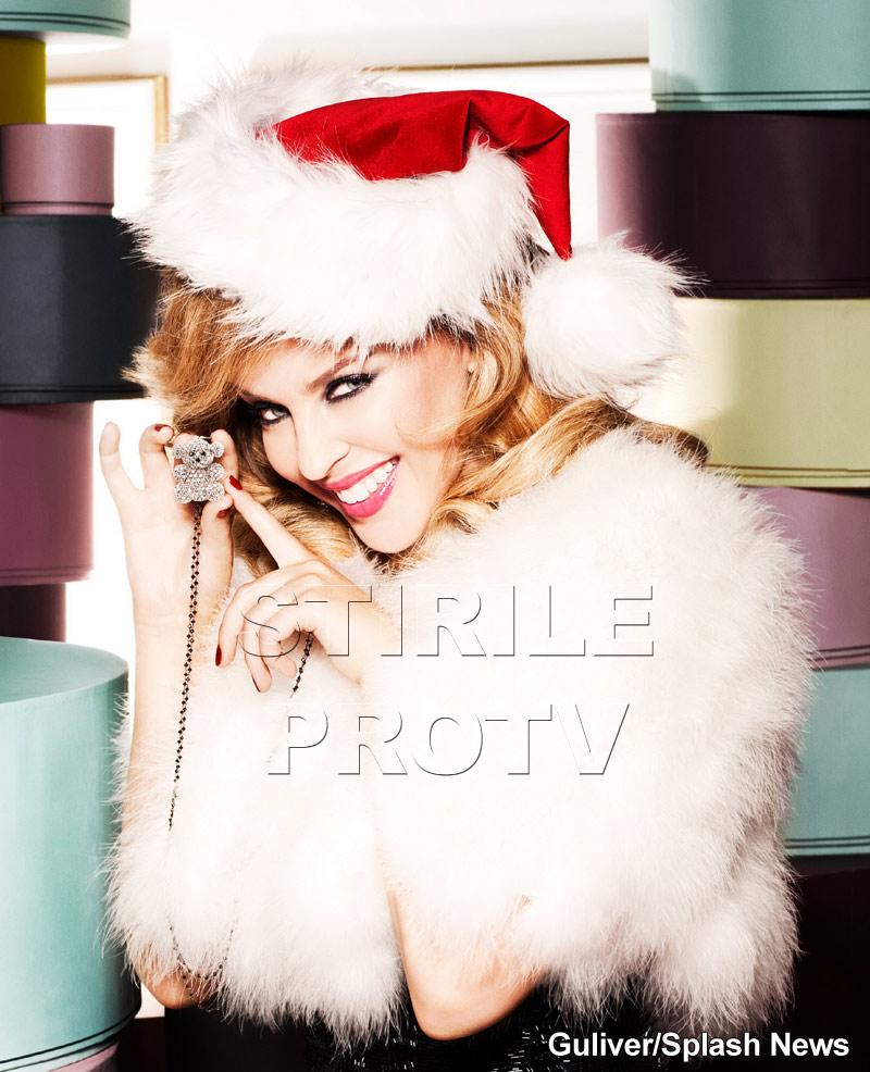 Kylie Minogue a petrecut Craciunul la viitorii socri, in Barcelona!