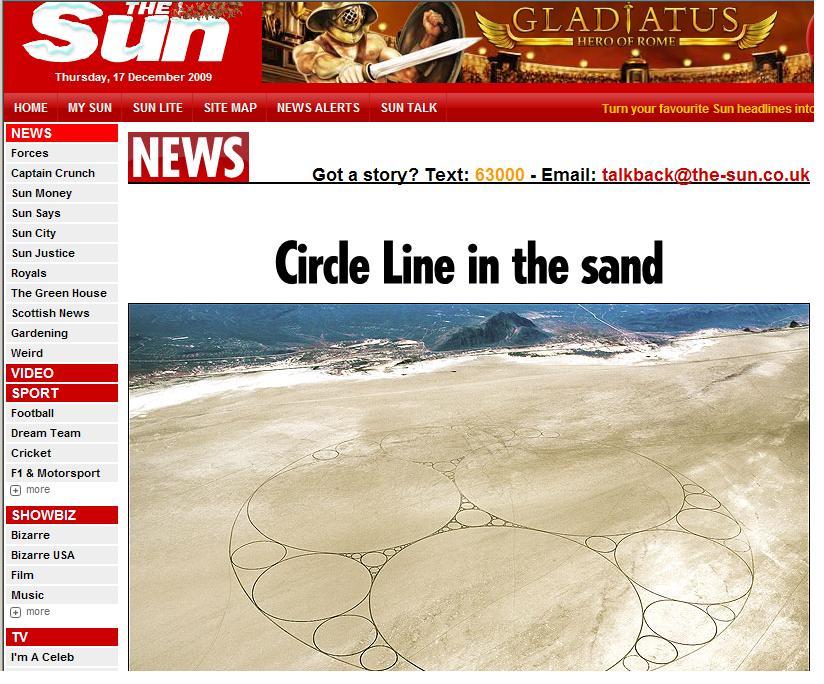 Cea mai mare opera de arta desenata in nisip!