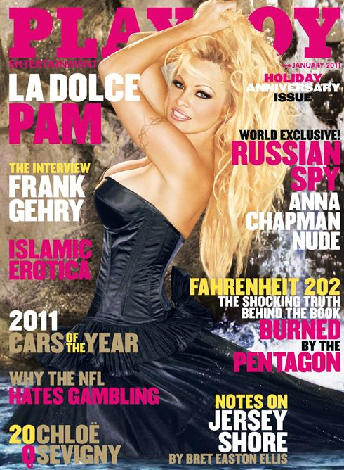 Pamela Anderson, a 13-a oara pe coperta Playboy! Cam imbracata.Galerie foto