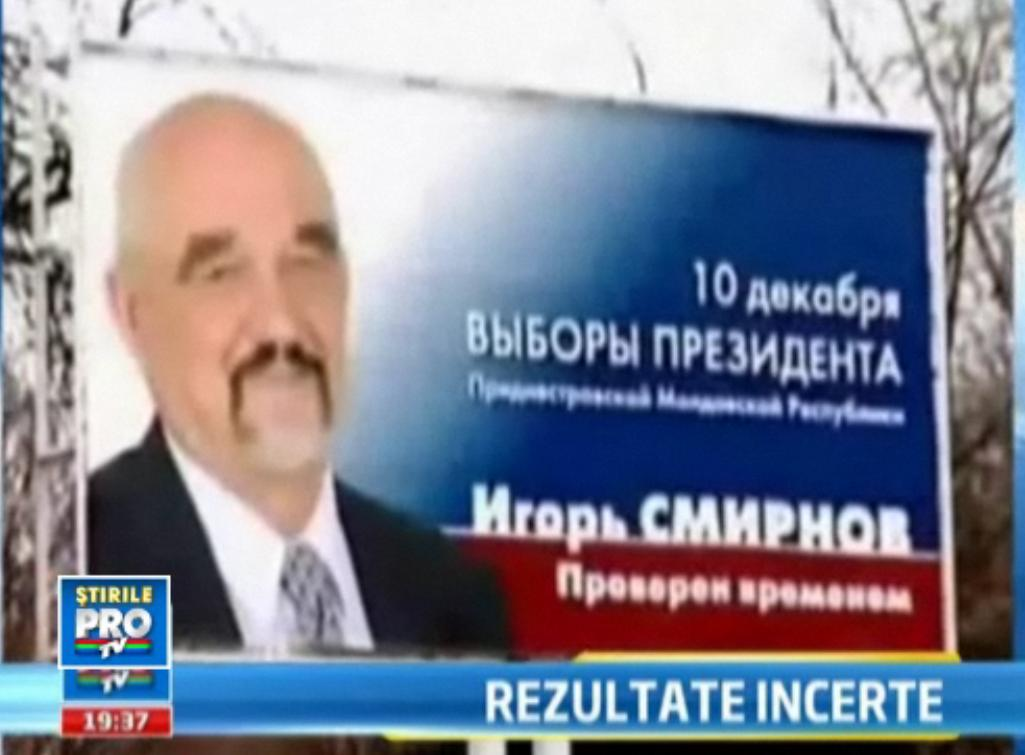 Confuzie totala la Tiraspol dupa primul tur de scrutin. Doi candidati, proclamati castigatori