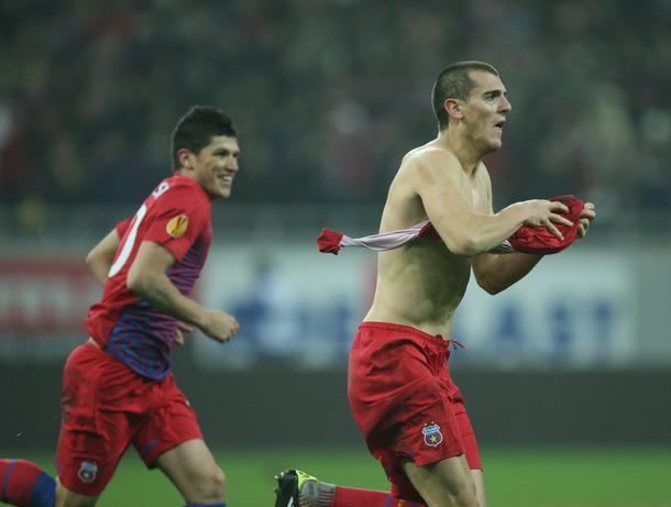 VIDEO. Vezi golurile cu care Steaua si-a gasit primavara in miez de iarna. 3-1 cu AEK Larnaca
