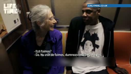 Jay-Z a luat metroul pentru a ajunge la un concert. Dialogul memorabil avut cu o batrana