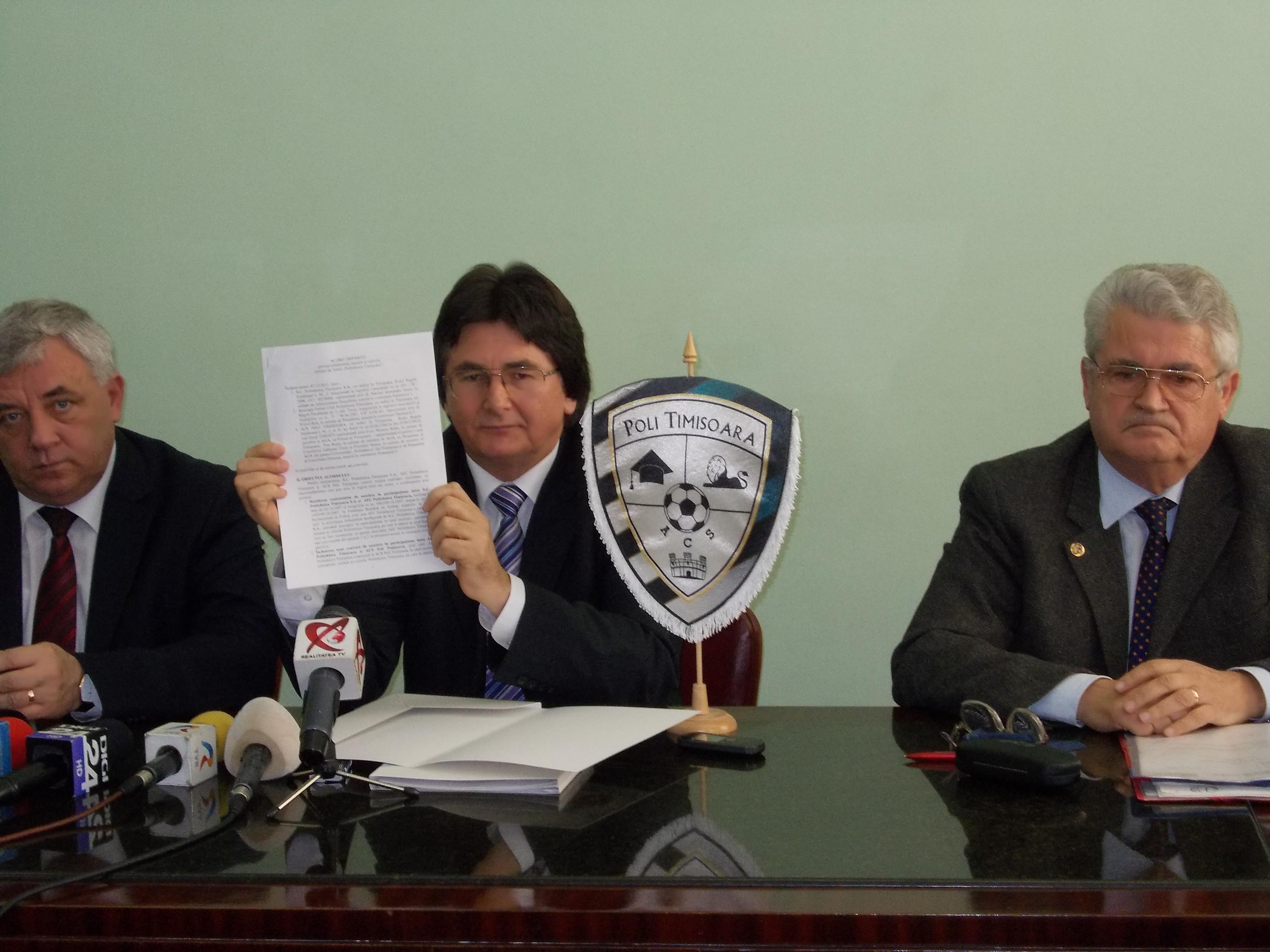 Iancu a devenit filantrop, iar ACS Poli (fosta Recas) s-a transformat in Politehnica Timisoara!