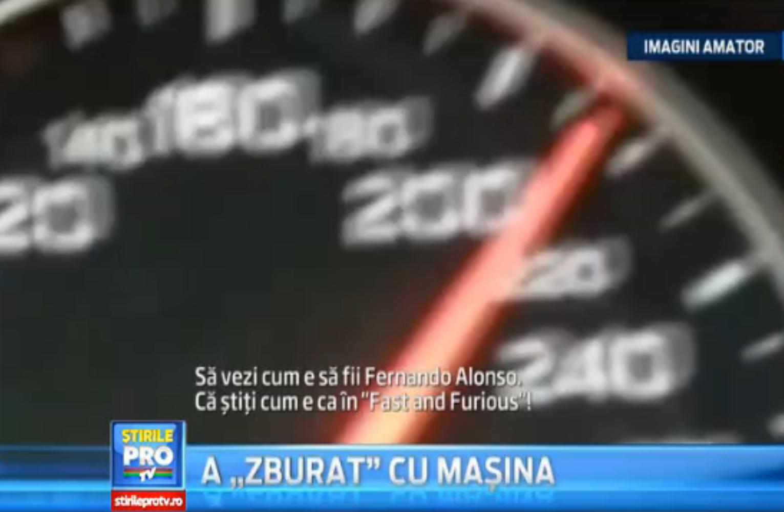 Ancheta deschisa in cazul unui tanar care s-a filmat conducand cu 250 km pe autostrada Transilvania