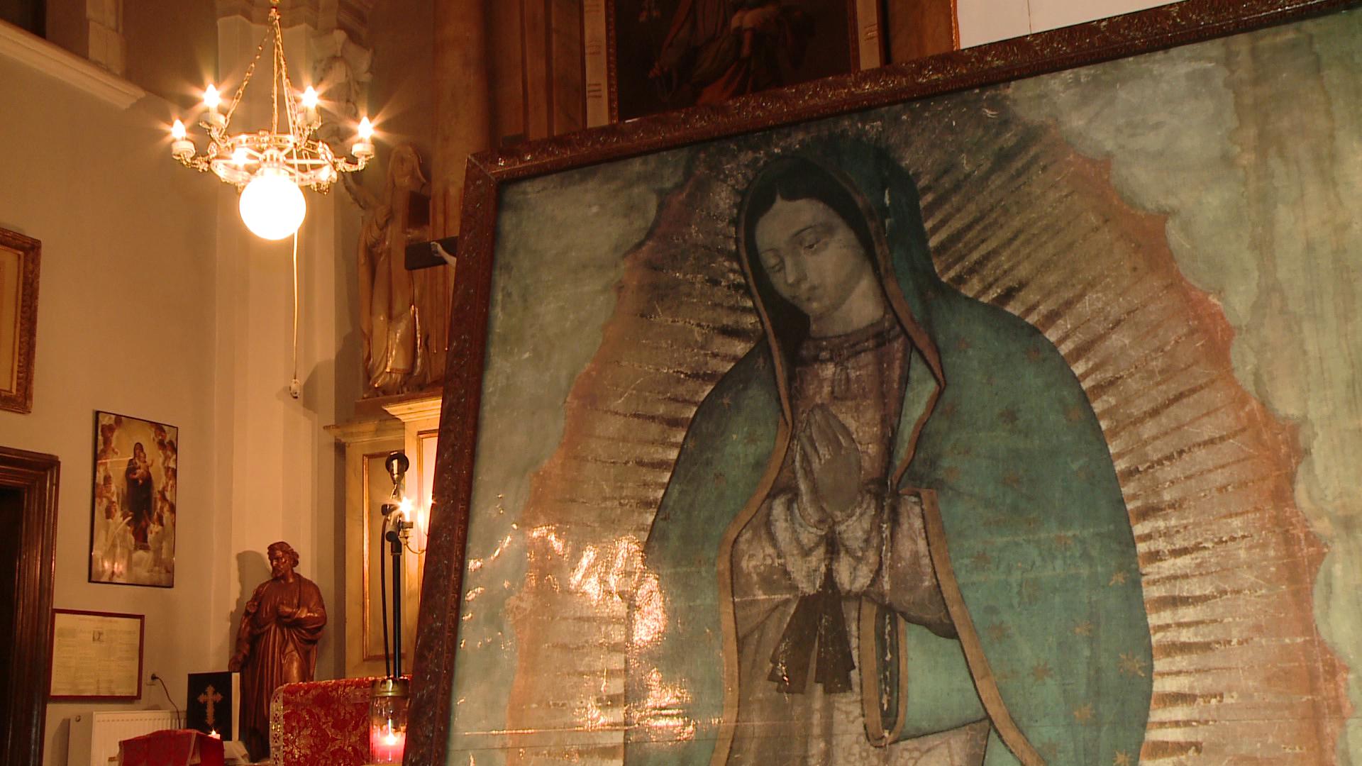 Credinciosii catolici se pot ruga la icoana facatoare de minuni a Sfintei Fecioare de Guadalupe. Cand va ajunge la Timisoara