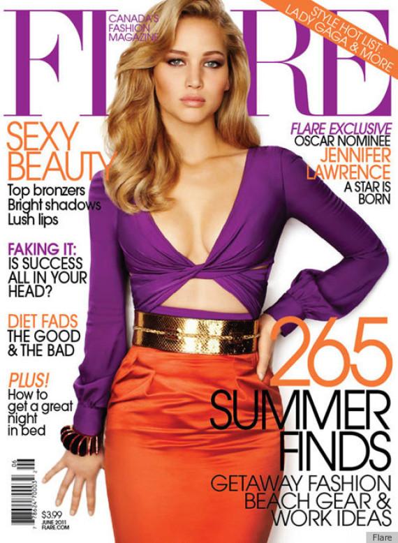 Pana si Jennifer Lawrence e modificata pe coperta revistelor. GIF-ul care a ajuns viral pe internet
