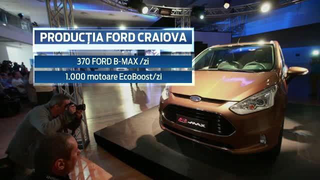 Angajatii uzinei Ford din Craiova au intrat a patra oara in somaj tehnic. Problemele modelului B-Max