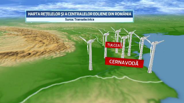Turbinele eoliene din Constanta si Tulcea au intrecut in capacitate Centrala Nucleara din Cernavoda