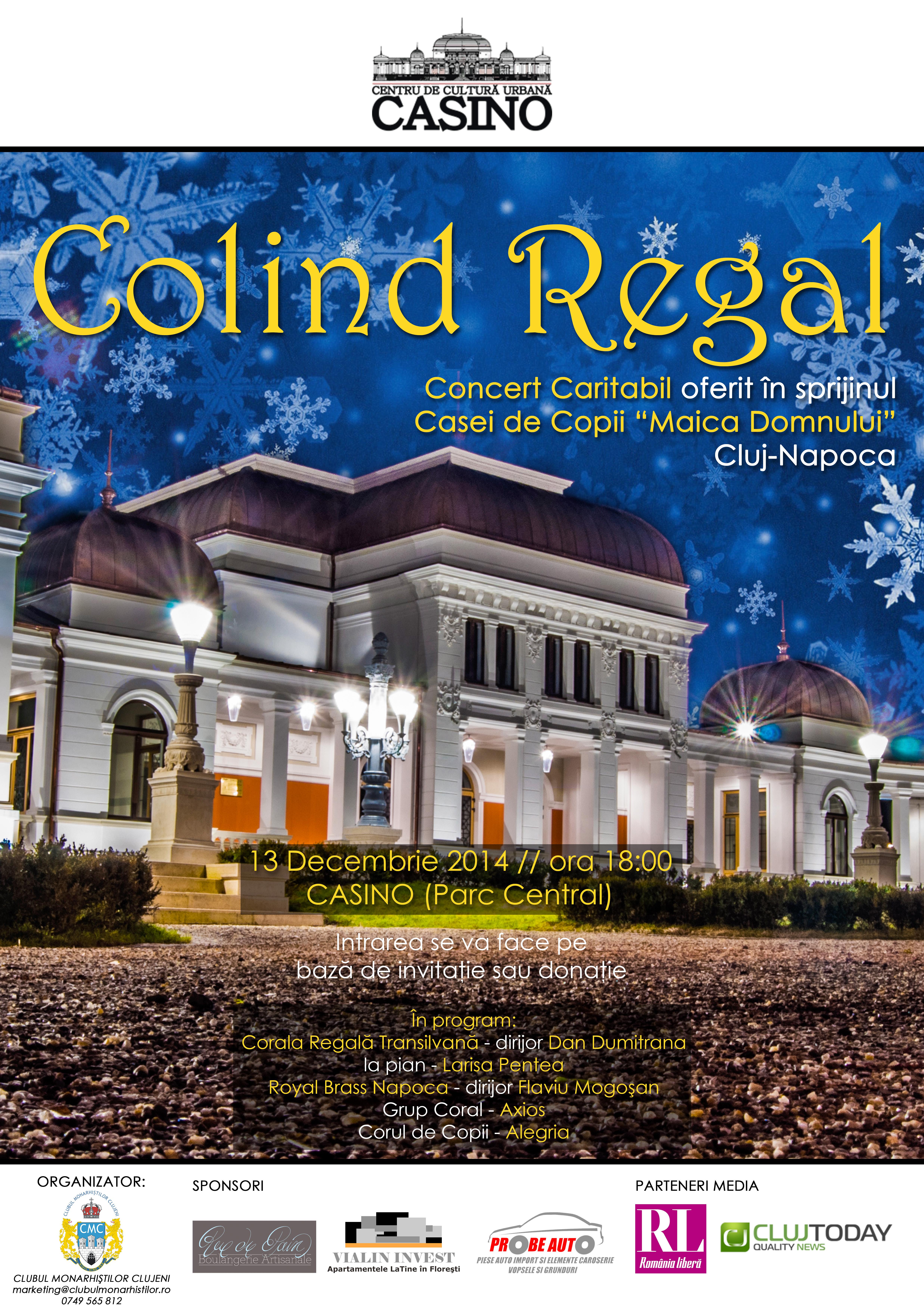 Colind regal in scop caritabil la Cluj-Napoca