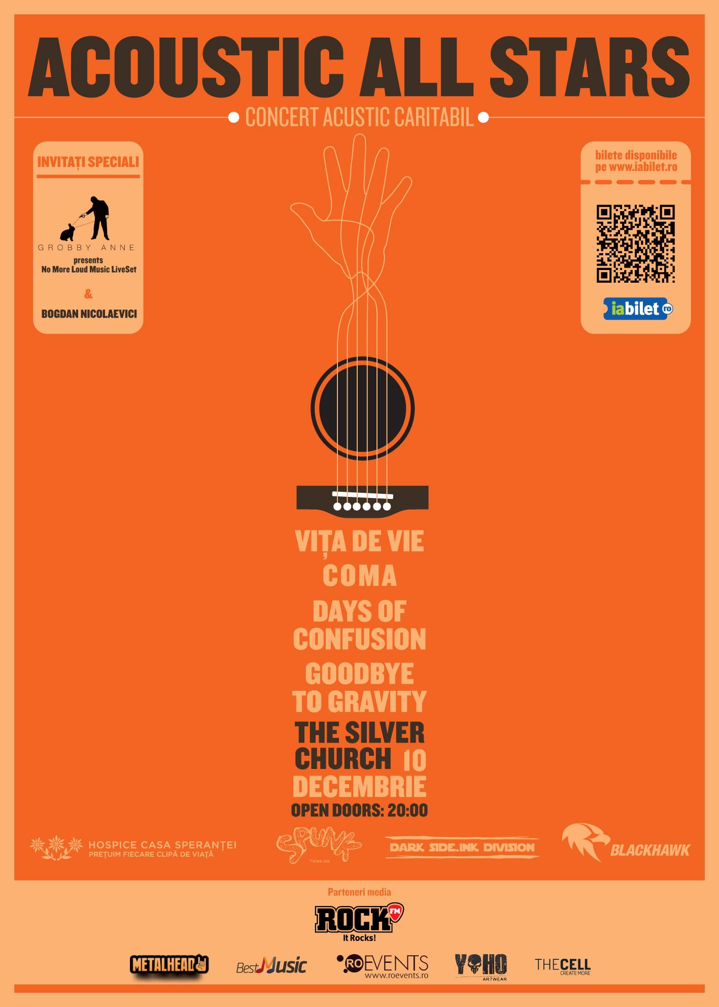 Concert caritabil cu Vita de Vie, Coma, Days of Confusion si Goodbye To Gravity