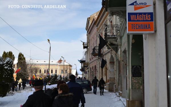Primarul din Targu Secuiesc, amendat de prefect pentru ca a arborat putine steaguri de 1 Decembrie