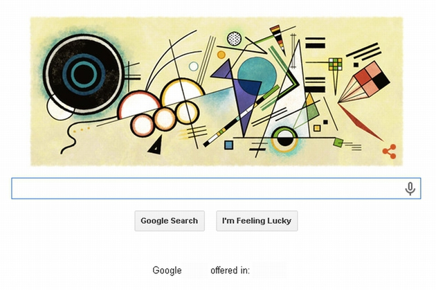 WASSILY KANDINSKY, omagiat de Google printr-un Doodle, la 148 de ani de la nastere