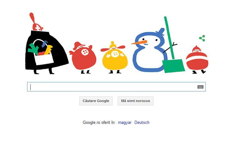 SOLSTITIUL DE IARNA, marcat de Google printr-un Doodle. De azi ziua incepe sa se mareasca