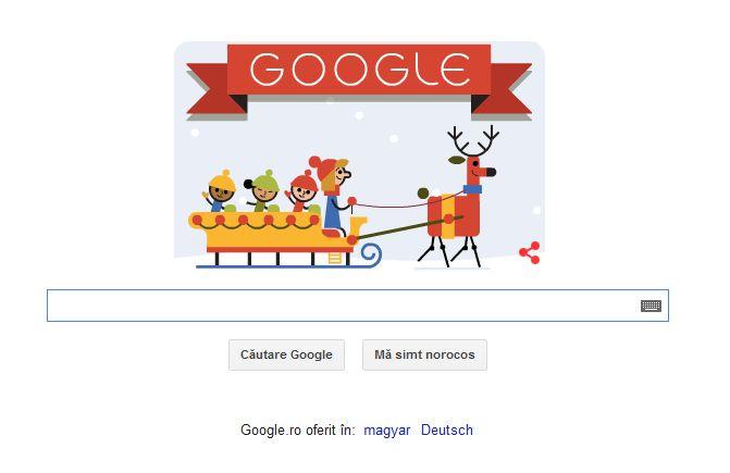 SARBATORI FERICITE! Google le ureaza romanilor SARBATORI FERICITE printr-un Doodle