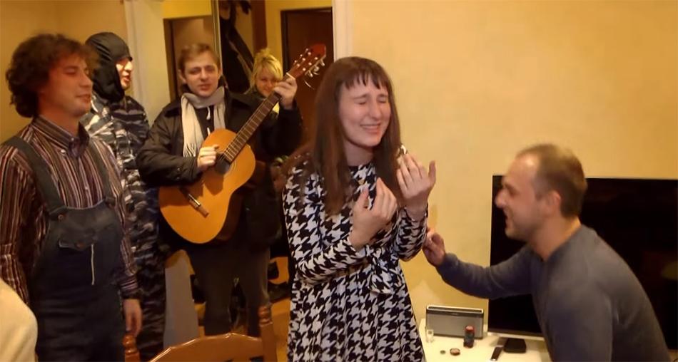 Cerere in casatorie in stil rusesc. VIDEO