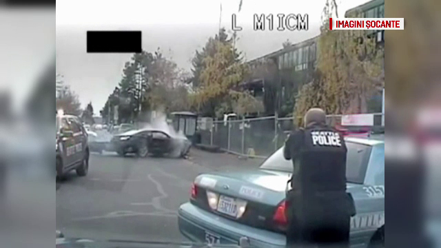 Urmarire ca in filme in Seattle, incheiata cu un schimb de focuri. Hotul, care furase o masina, a fost ucis de politisti
