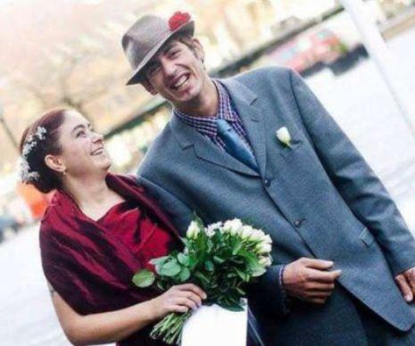 Poveste de dragoste controversata, in presa internationala. O suedeza s-a casatorit cu Florin, un cersetor roman de 22 de ani
