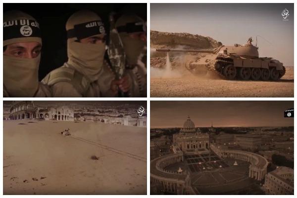 Roma, transformata in desert si tancurile jihadiste inaintand spre Vatican. Cum arata