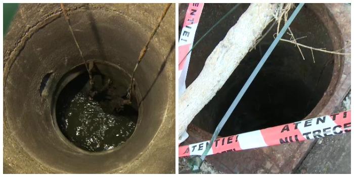 Scene revoltatoare in Bucuresti. O femeie a cazut intr-un canal colector, al carui capac a fost furat. Fiul ei a salvat-o