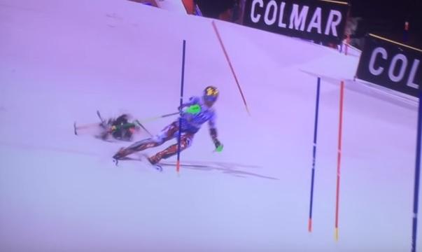 Incident la slalomul special de la Madonna di Campiglio, din Italia. Schiorul Marcel Hirscher, aproape lovit de o drona