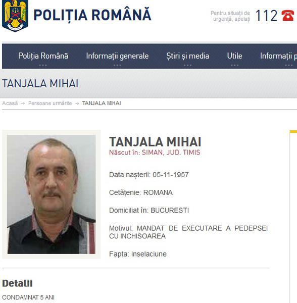 Mihai Tanjala, fostul deputat condamnat pentru coruptie, va fi extradat in Romania. Ceruse azil politic in Insulele Cayman