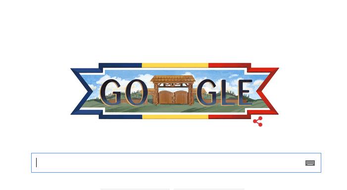 Google Doodle inspirat din cultura poporului roman, de 1 Decembrie