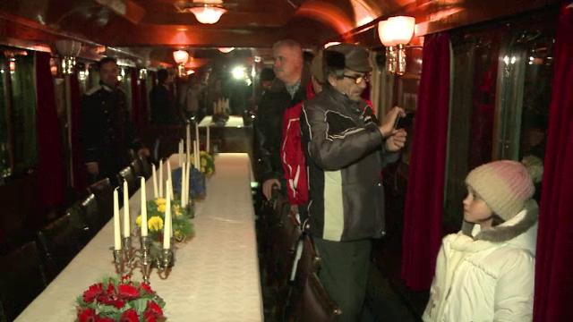 Trenul Regal a pornit intr-o calatorie aniversara. Principesa Margareta si Principele Radu au avut oaspeti de seama