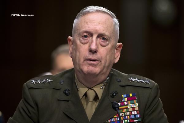 """James Mattis, despre Siria: """"Nu ar fi deloc înțelept să utilizeze arme chimice"""""""