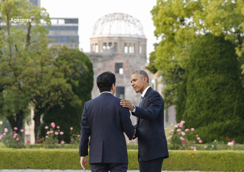 Vizita istorica a lui Shinzo Abe in SUA, la 7 luni dupa ce Obama a mers la Hiroshima.