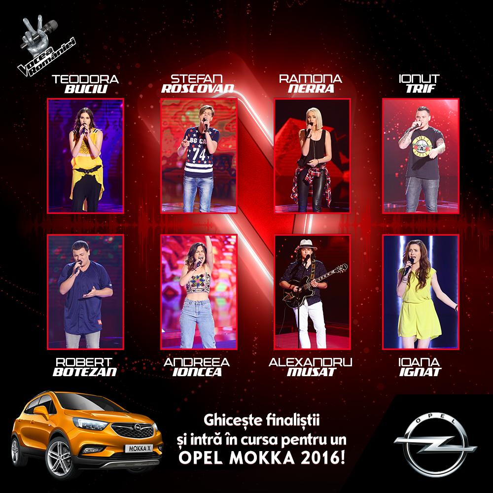 Ei sunt cei opt concurenti care se lupta pentru a ajunge in finala Vocea Romaniei 2016. Ghiceste cine vor fi cei 4 finalisti